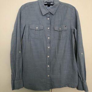 Tommy Hilfiger light blue color long sleeve shirt